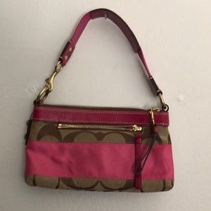 Pink and Brown Coach mini purse
